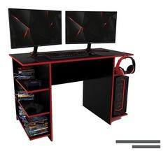 MESA PC DELOS DGA01 GAMER NEG/ROJO