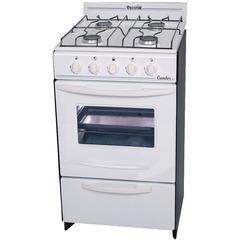 Cocina a gas Natural Escorial Candor 4 Hornallas 50 cm blanca