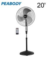 ventilador de pie PEABODY metalico c/remoto vp300 20'