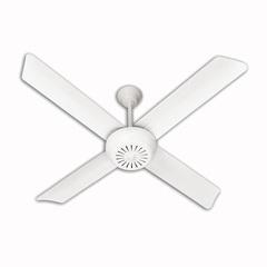 Ventilador De Techo Severbon 420 4palas Metal Blanco