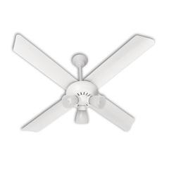 Ventilador De Techo Severbon 420 C/luz4 Palas Metal Blco