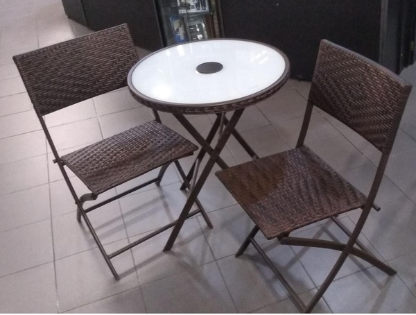 Jgo de mesa y silla ratan lf61023 l 1