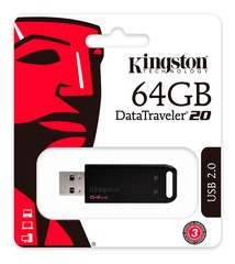 PEN DRIVE KINGSTON 64GB DT20