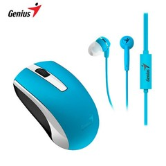 MOUSE GENIUS INALAMBRICO MH-8100 + AURICULARES