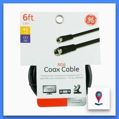CABLE COAXIL G ELECTRIC RG6 NEGRO 1.8MT